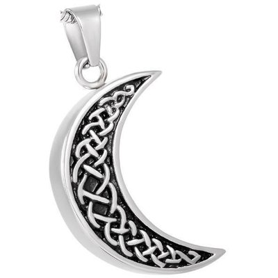 Celtic Half Moon Pendant