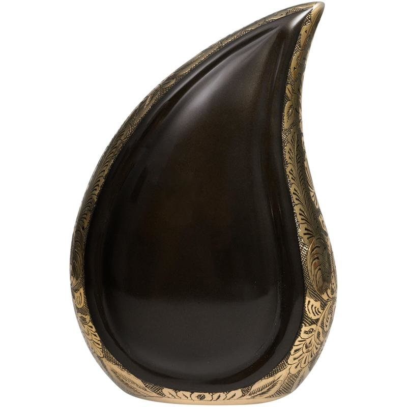 Gold And Black Teardrop