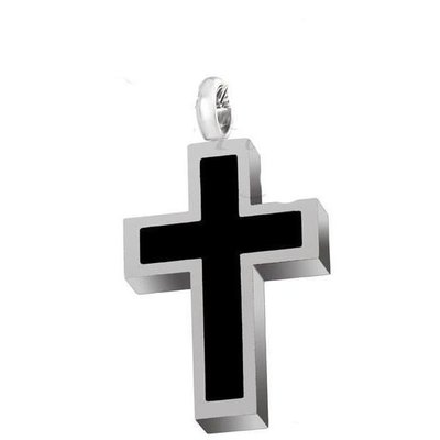 Black Cross Pendant